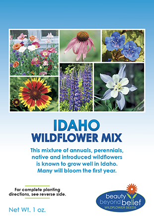 Tag for Idaho Wildflower Mix packet.