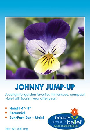 Johnny Jump-up seed packet.