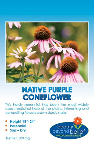 Native Purple Coneflower seed packet.