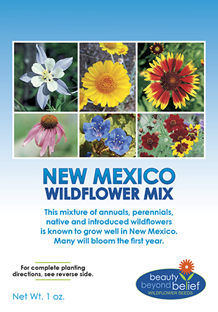 Tag for New Mexico Wildflower Mix packet.