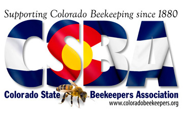 Logo for the Colorado State Beekeepers Association.