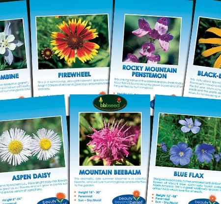 Rocky Mountain Flower Collection of 7 flower species.