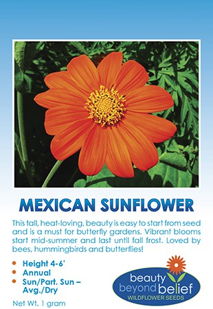 Tag for Mexican Sunflower packet