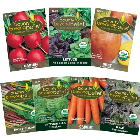 Late Season Collection of 7 vegetable seed packets