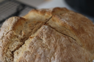 Photo of a round loaf of Irish soda bread